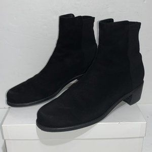 Stuart Weitzman Reserve Boot Black Suede Sz 8.5 M